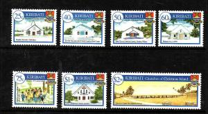 Kiribati-Sc#835-41-Unused NH set-Christmas-Churches-2003-