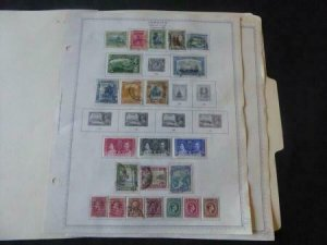 Jamaica 1919-1956 Stamp Collection on Album Pages