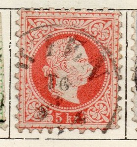 Austria 1867 Early Issue Fine Used 5kr. NW-11536