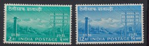 J28333 1953 india set mh #246-7 telegraph