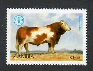 Zambia; Scott 419; 1987;  Used; NH