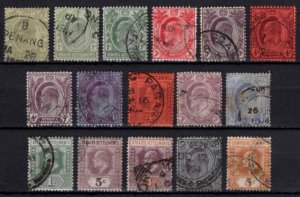 Straits Settlements 1902-12 Edward VII various definitives