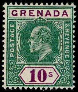 GRENADA SG76, 10s green & purple, NH MINT. Cat £190.