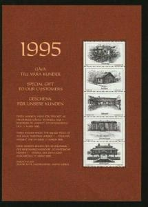 Sweden.Subscribers Gift.1995. Test Print. Swedish Houses 1 .Engrav Morck - Nas