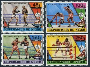Niger 484-487,488,MNH.Mi 673-676,Bl.24. Pre-Olympics Moscow-1980.1979.Boxing.