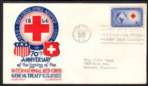 US 1016 Red Cross Cachet Craft Staehle U/A FDC
