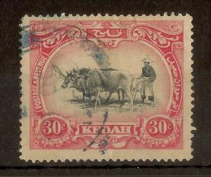 Kedah 1912 30c SG8 Used