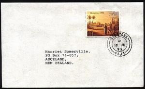 FIJI 1992 cover to NZ : SIGATOKA double ring cds...........................70394