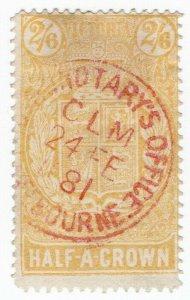 (I.B) Australia - Victoria Revenue : Stamp Statute 2/6d (sideways watermark)