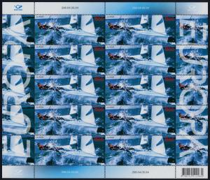Estonia 487 sheet MNH EUROPA, Sailing Yacht