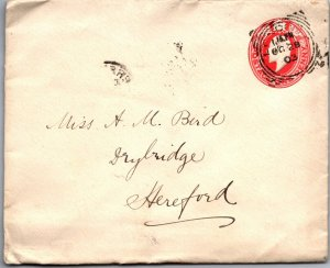 1903 1d GB postal stationery cover London > Hereford
