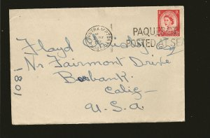 Great Britain 296 on 1954 Red Star Line Posted at Sea Cover Southhampton to USA