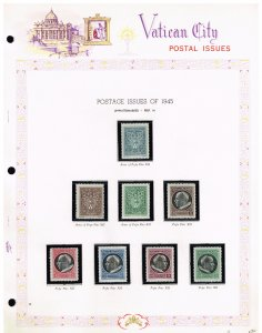 ITALY VATICAN CITY MH/OG STAMPS ALBUM PAGE COLLECTION LOT  #12
