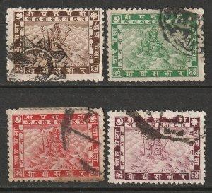 Nepal 1907 Sc 26-9 set used
