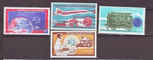 J22308 Jlstamp 1974 dahomey set mnh #c221-4 transportation