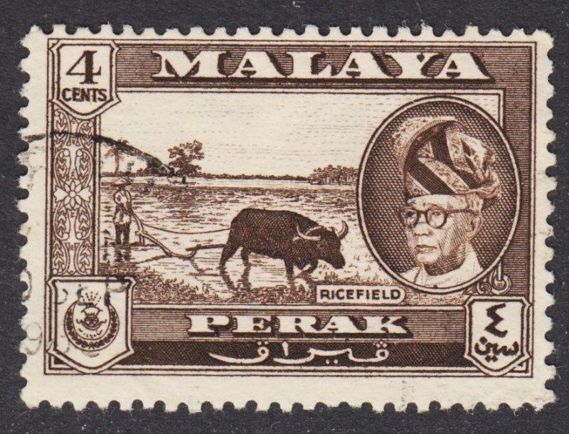 Malaya Perak Scott 129 F+ used.