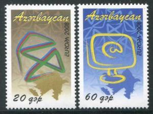 HERRICKSTAMP AZERBAIJAN Sc.# 873-74 Europa 2008 The Letter