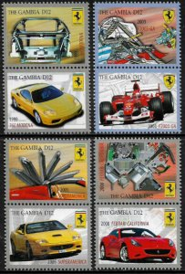Gambia #3230-3 MNH Set - Ferrari Cars and Their Parts
