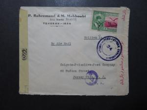 Persia 1944 Cover / UK / Soviet Censors (II) / US SHIPPING ONLY - Z10137