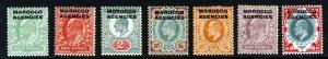 MOROCCO AGENCIES King Edward VII 1907-13 Overprinted GB Set SG 31 to SG 37 MINT