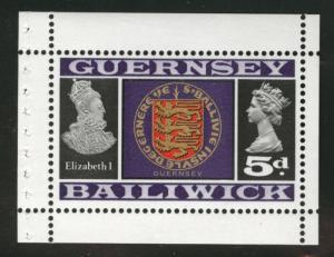 Guernsey Scott 14a Booklet pane stamp 1969 MNH**