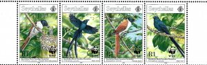Seychelles 778a MNH 1996 Birds strip of 4