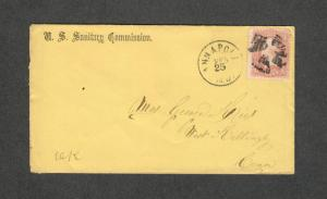US Sc#65 Sanitary Commision Civil War Cover Annapolis MD