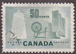 Canada 334 Hinged Used 1953 Textile Industry