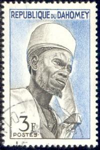 Bariba Chief of Nikki, Dahomey stamp Used