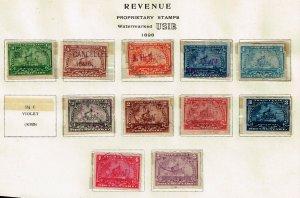 US STAMP BOB REVENUE 1898 BATTLESHIP STAMPS COLLECTION LOT #3