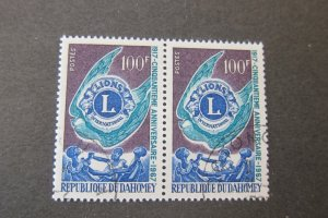 Dahomey 1967 Sc 234 CTO pair set FU