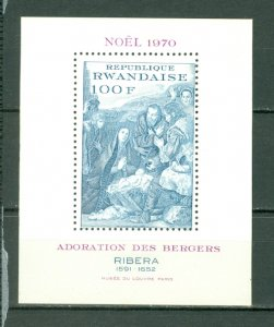 RWANDA CHRISTMAS #389/494/564...(3) SOUNVENIR  SHEETS MNH...$13.75