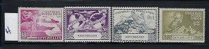 SEYCHELLES - SCOTT #153-156 1949 UPU ISSUE- MINT HINGED