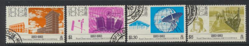 Hong Kong SG 446 - 449 set of 4 Observatory Used  FD cancel