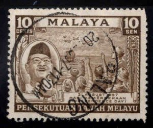 Federation of Malaya Scott 84 used 1957 stamp
