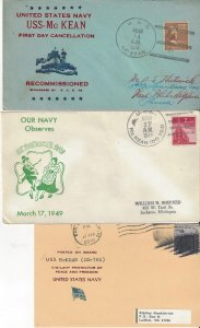 US Naval Cover USS McKean DD 90 & DD 784 1941 FDC, 1949 St. Patrick's Day, 1981