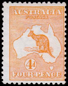 Australia Scott 6 (1913) Mint H F-VF, CV $150.00 M