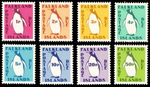 Falkland Islands 1991 Scott #J1-J8 Mint Never Hinged