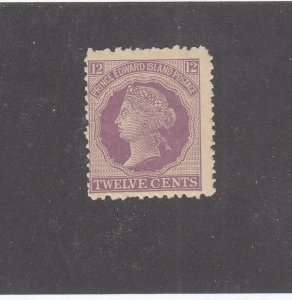 PRINCE EDWARD ISLAND # 16 F-MH 12cts 1868-70 QUEEN VICTORIA /VIOLET