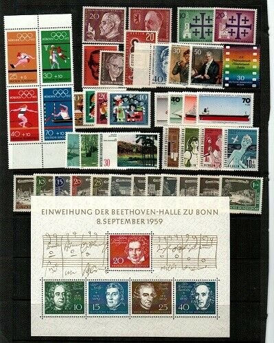 Germany small collection of Mint NH sets and S/S (CV $106) - missing Scott 829