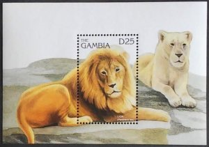 1996 Gambia 2346/B284 Cats