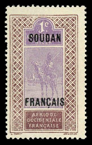 French Sudan 21 Mint (NH)
