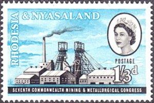 Rhodesia & Nyasaland # 179 mnh ~ 1sh3p Mining Surface Installations