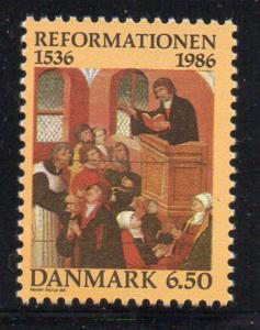 Denmark Sc 830 1986 Protestant Reformation stamp mint NH
