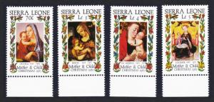 Sierra Leone Christmas 'Madonna and Child' Paintings 4v SG#903-906