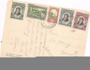 San Marino 1937 PPC 5 color frank to Austria (baf)