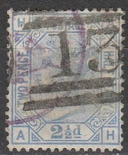 Great Britain #68 Plate 19  F-VF Used CV $65.00  (A12208)