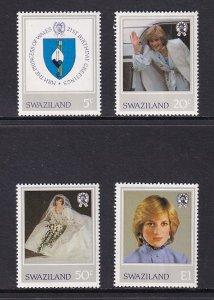 Swaziland  #406-409  1982  MNH  Princess Diana issue
