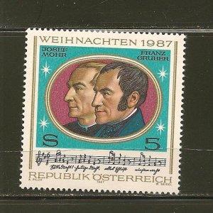 Austria Weihnacnten 1987 Issue MNH