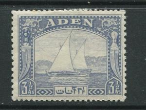 ADEN - Scott 7 - Dhow Issue - 1937- MH - Single 3.1/2a Stamp
